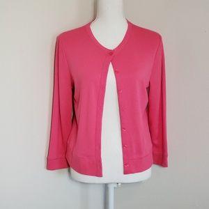 Rafaella Pink Button Down Cardigan